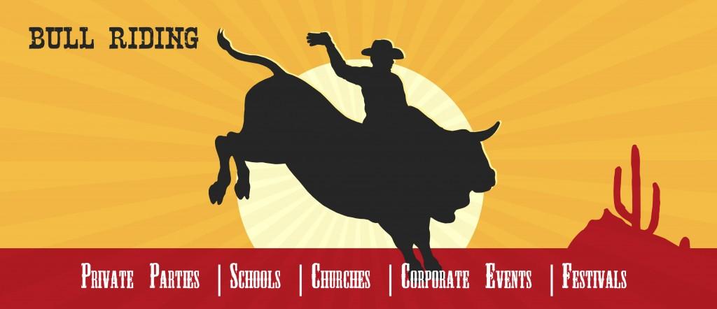 free-rodeo-bull-rider-vector-poster
