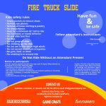 Fire Truck Slide Ride Rules