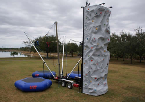 Rock Wall Bungee Combo Rental