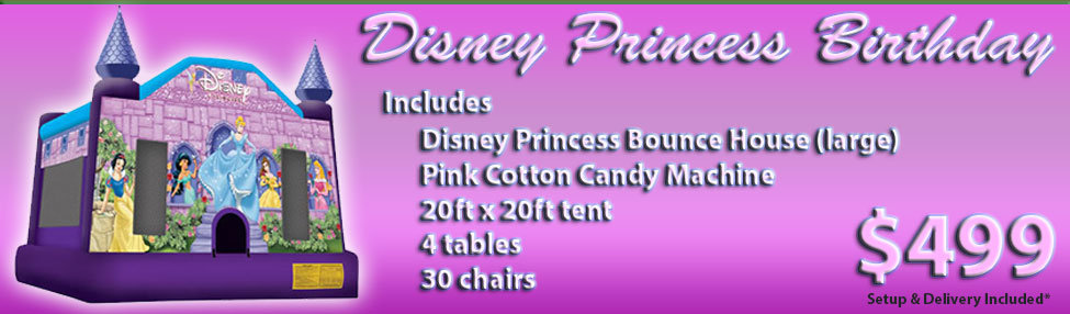 Rent a Disney Princess Bounce House