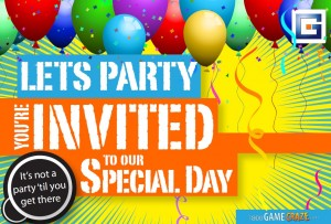 Free party invitations with rental